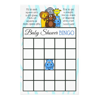 Jungle or Zoo Animal themed baby shower games Flyer