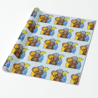 Jungle or Zoo Animals Gift Wrap