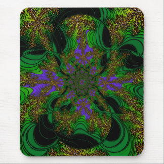 """Jungle Orchids"" ~ Abstract Art Print Mouse Pad"