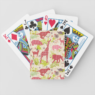 Jungle paradise bicycle playing cards
