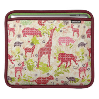 Jungle paradise iPad sleeves