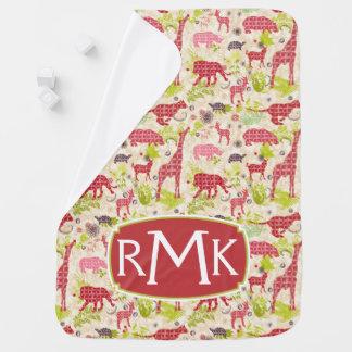 Jungle paradise   Monogram Baby Blanket
