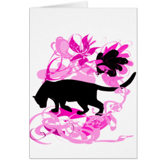 Jungle Pather card (pink)
