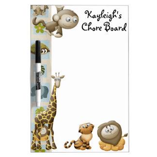 Jungle Personalized Chore Board