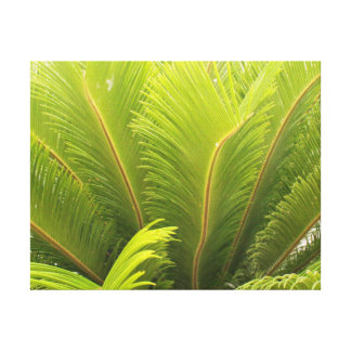 """Jungle Plant Canvas Decoration 14x11"""" Stretched Canvas Print"""