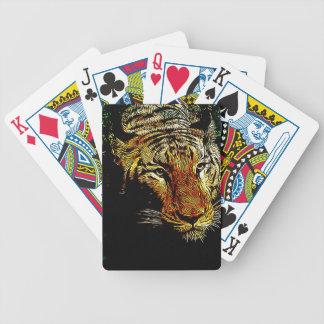 jungle predator wildlife safari animal wild tiger bicycle playing cards