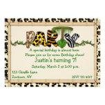 Jungle Print Birthday Party Personalised Invitation