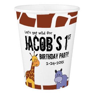 Jungle, Safari 1st Birthday, Personalised Paper Cup