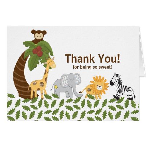 Jungle Safari Animal Neutral Baby Shower Greeting Cards