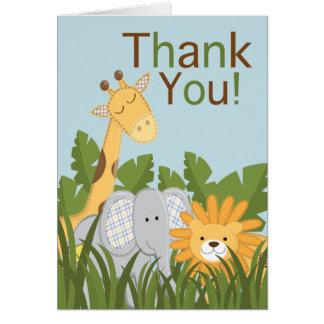 Jungle Safari Animal Neutral Baby Shower Cards