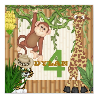 Jungle Safari Birthday for Children Invitation Tem