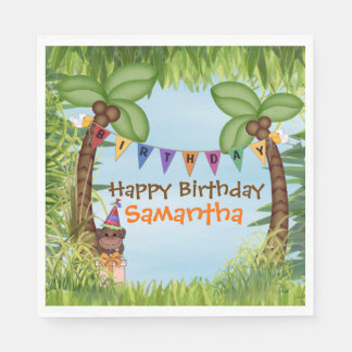 Jungle Safari Birthday Paper  Napkin Paper Napkin