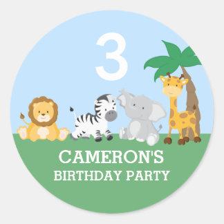 Jungle Safari Birthday Party Sticker