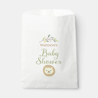 Jungle Safari Lion Baby Shower Favor Bags