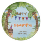 Jungle Safari Melemine Birthday Plate