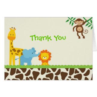 Jungle Safari Thank You Notes cards