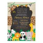 Jungle Safari Wild Baby Shower Invitation