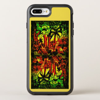 Jungle scenery softly lightening mirrored upside OtterBox symmetry iPhone 8 plus/7 plus case