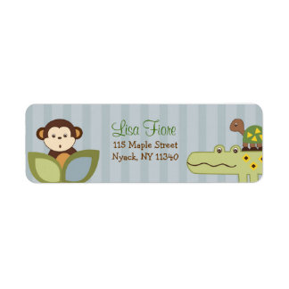 Jungle Story Jungle Animal Address Labels
