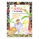 Jungle Theme/Personalised Party/photo/DIY colour Personalized Announcements