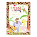 Jungle Theme/Personalised Party/photo Custom Invitation