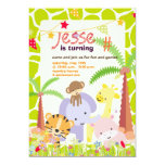 Jungle Theme/Personalised Party/photo Personalized Announcements