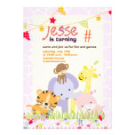 Jungle Theme/Personalised Party/photo Invitations