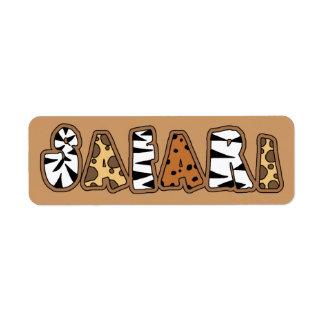 Jungle Theme Safari Avery Labels
