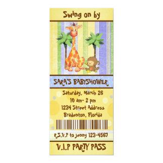 Jungle theme Ticket style Invitation