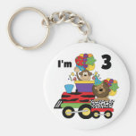 Jungle Train 3rd Birthday Tshirts and Gifts Keychains