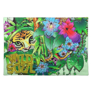 Jungle Wild Animals and Plants  American MoJo Plac Placemat