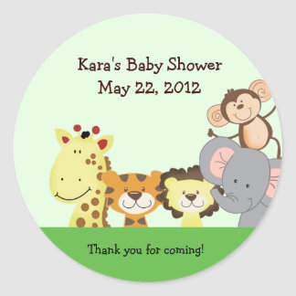 JUNGLE ZOO PARTY Customizable Favor Sticker