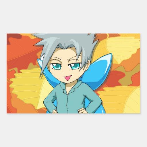 Juniior Fairy Super hero, by Nekoni Rectangular Stickers