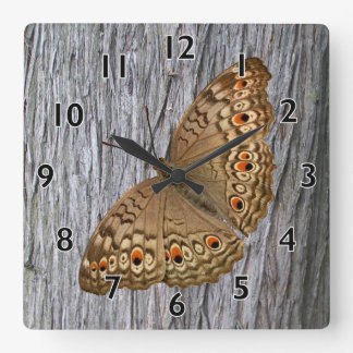 Junio Panther Butterfly Square Wall Clock