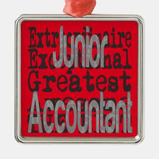 Junior Accountant Extraordinaire Metal Ornament