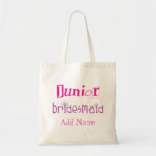 Junior Bridesmaid Canvas Bags