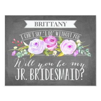 Junior Bridesmaid Card | Bridesmaid 11 Cm X 14 Cm Invitation Card