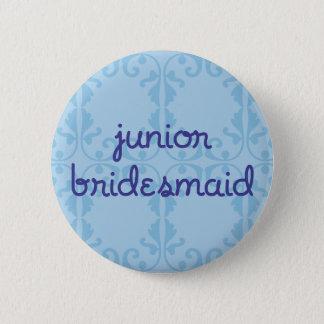 Junior Bridesmaid (Design 3) 6 Cm Round Badge