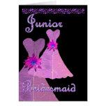 Junior Bridesmaid Invitation PINK Gown Cards