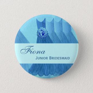 JUNIOR BRIDESMAID Pin Button Bridesmaids Gowns