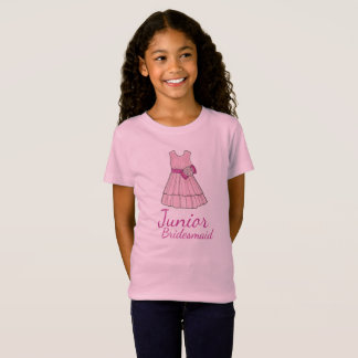 Junior Bridesmaid Pink Bridal Party Dress Girl Tee