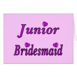 Junior Bridesmaid Simply Love Note Card