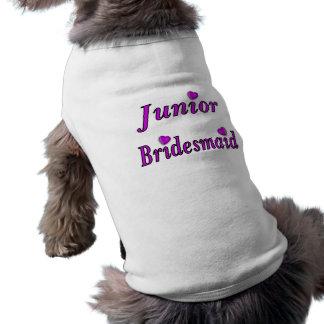 Junior Bridesmaid Simply Love Sleeveless Dog Shirt