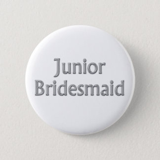 Junior Bridesmaid Wedding Button