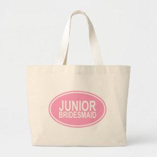 Junior Bridesmaid Wedding Oval Pink Canvas Bag