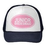 Junior Bridesmaid Wedding Oval Pink Cap