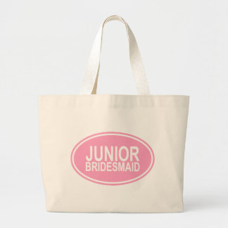 Junior Bridesmaid Wedding Oval Pink Jumbo Tote Bag