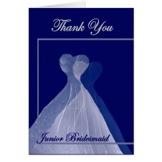 Junior Bridesmaid Wedding THANK YOU Card
