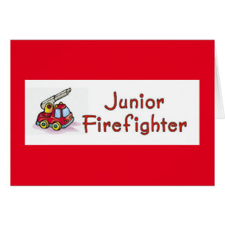 Junior Firefighter Baby Shower Card