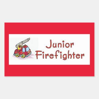 Junior Firefighter Rectangular Sticker